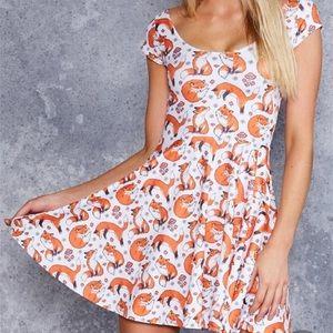 NWT 🦊✨ For Fox Sake Cap Sleeve Skater Dress